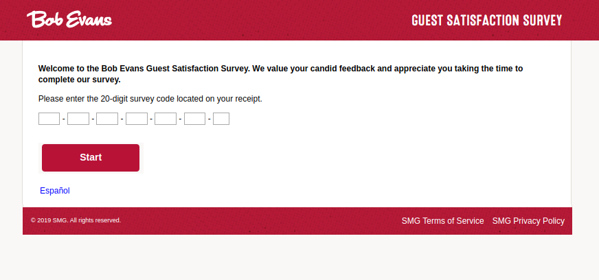 Bob Evans Guest Satisfaction Survey
