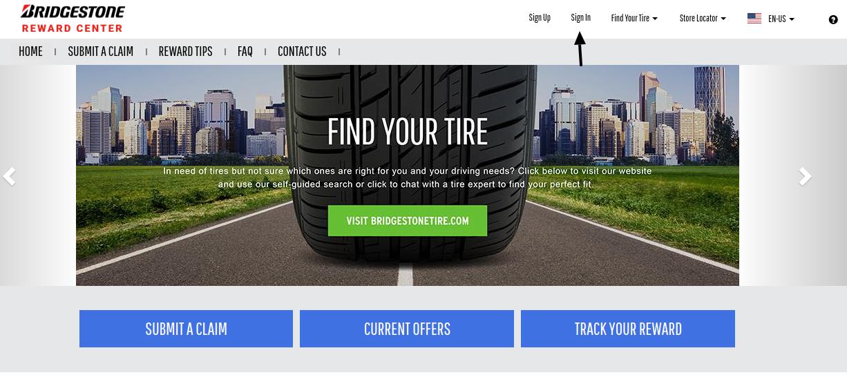 Bridgestone Rewards Sign In