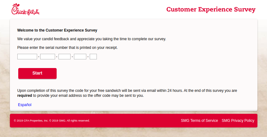 Chick-fil-A Customer Experience Survey