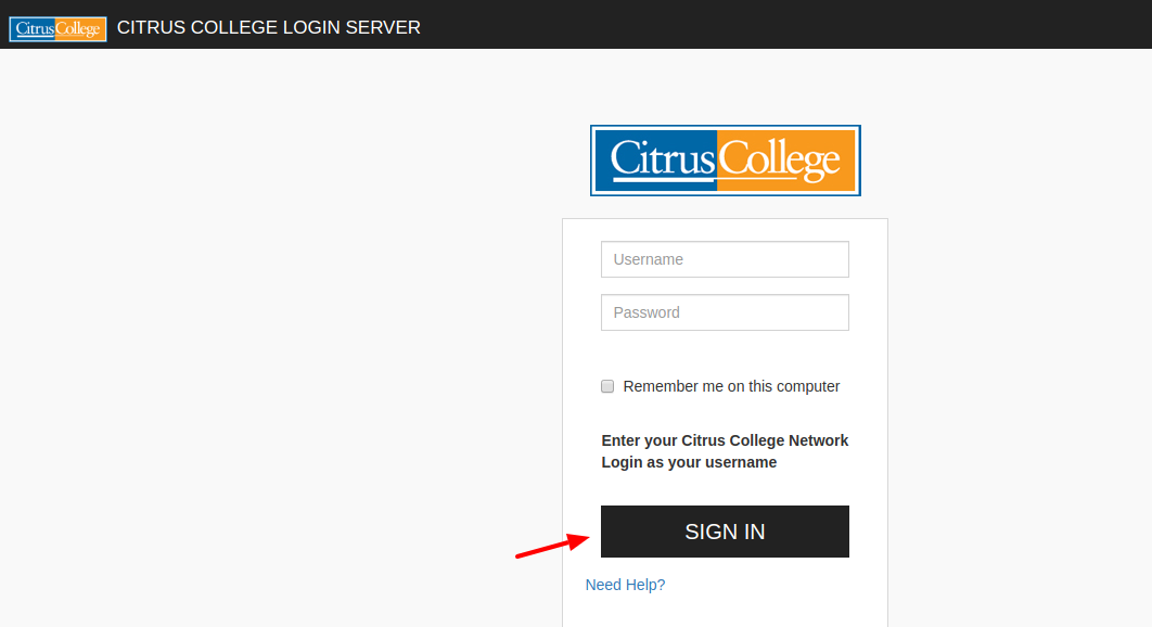 Citrus College Login
