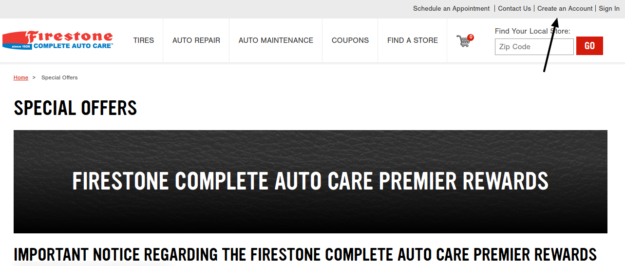Firestone Complete Auto Care Create Account