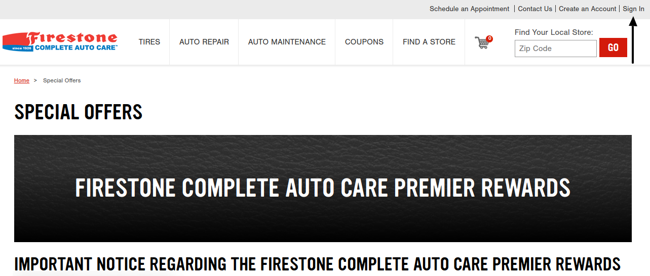 Firestone Complete Auto Care Sign In