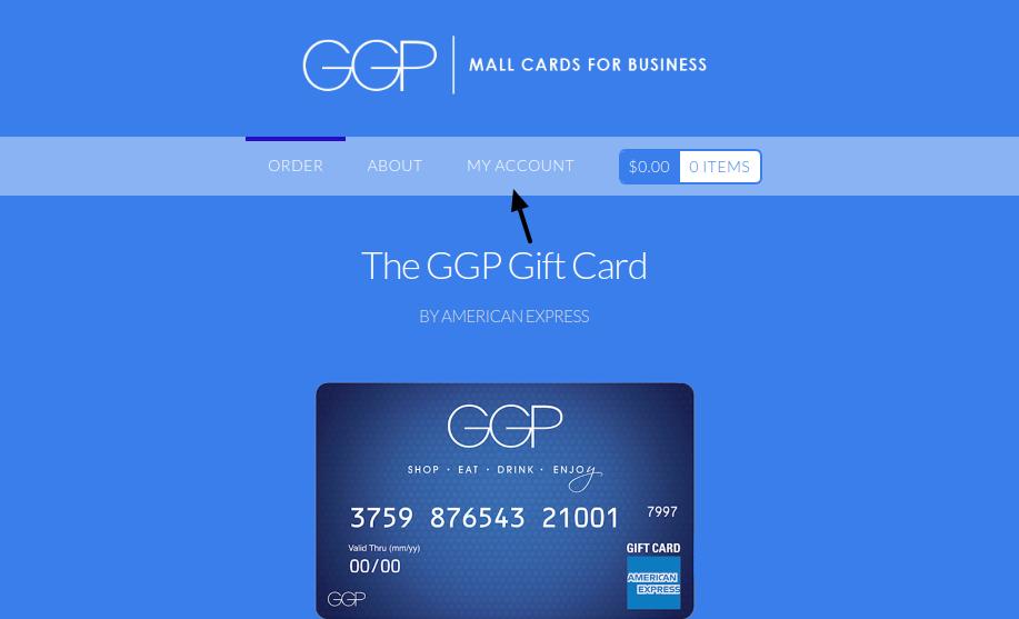 GGP gift card Create Account