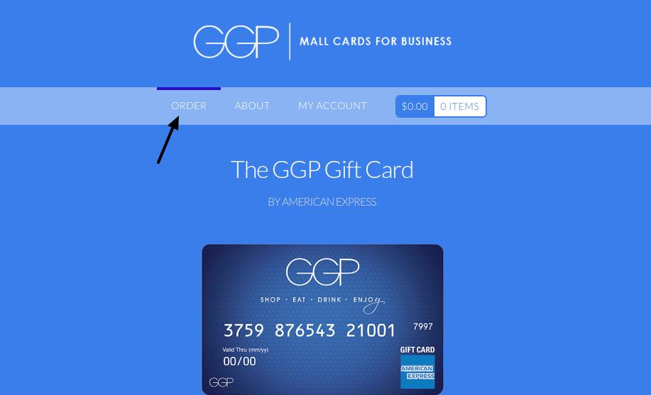 GGP gift card Order
