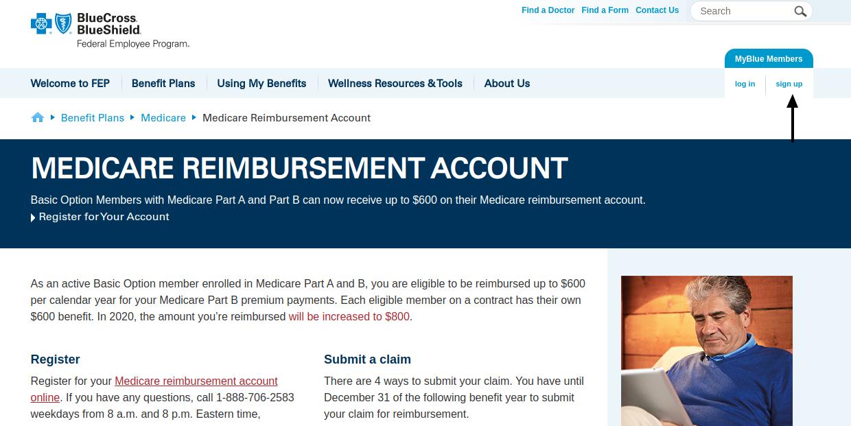 Medicare Reimbursement Account Sign Up