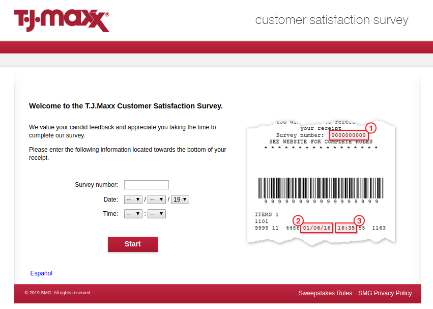 T J Maxx Customer Satisfaction Survey