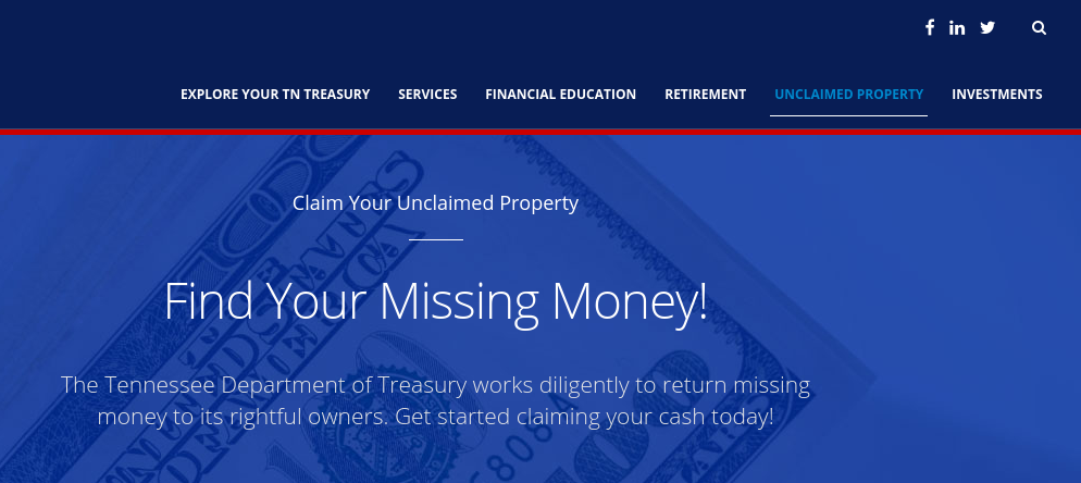 Tennessee s Unclaimed Property