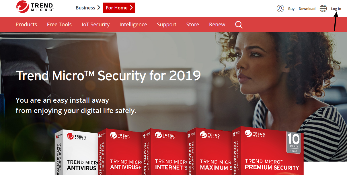 Trend Micro Security Login