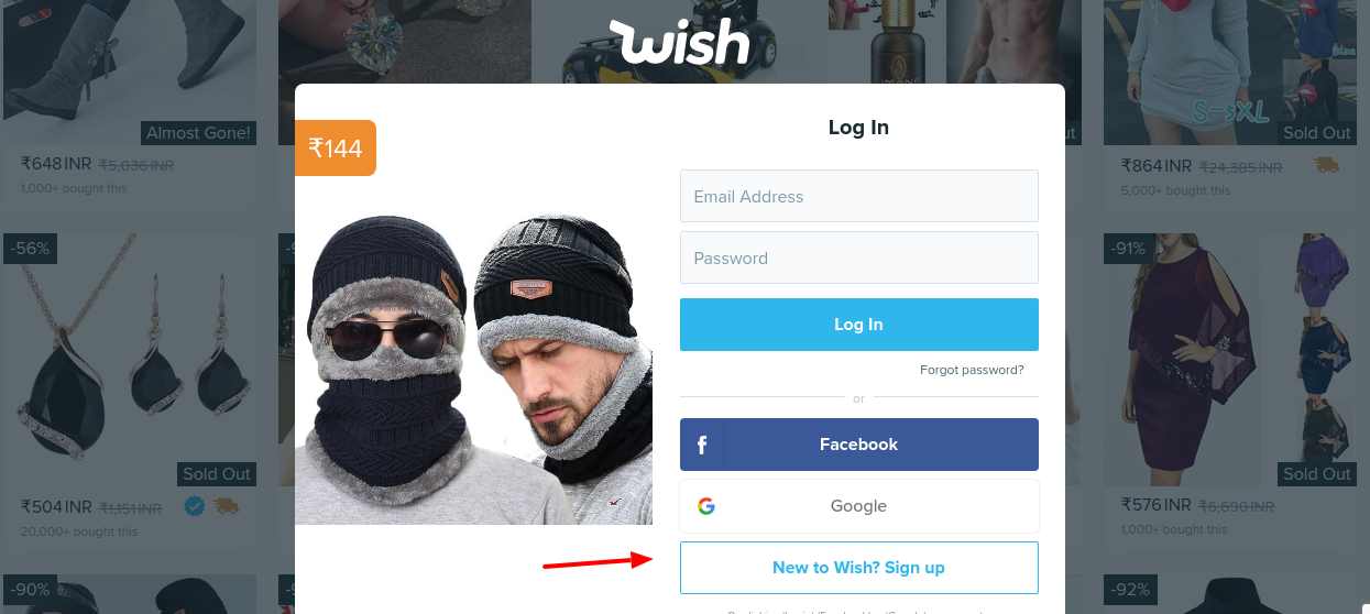 Wish Sign Up