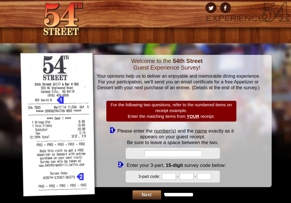 54th Street Guest Survey