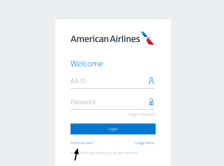 American Airlines First Time User