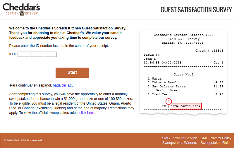 Cheddar Kitchen Guest Survey