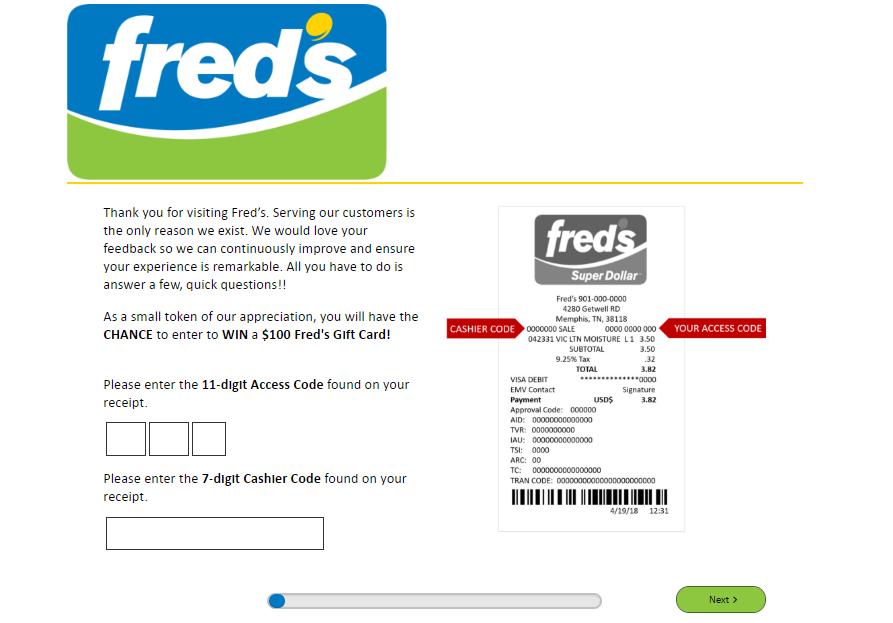 Freds Survey