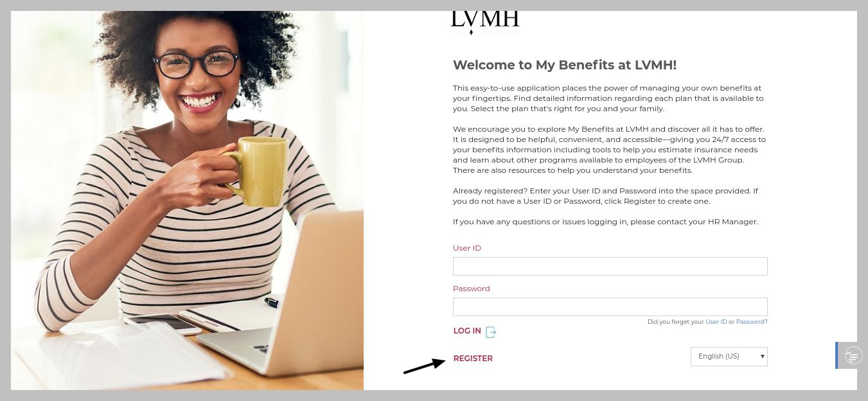 MyBenefitsatLVMH Register