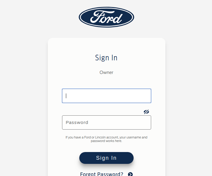 Ford - Sign In