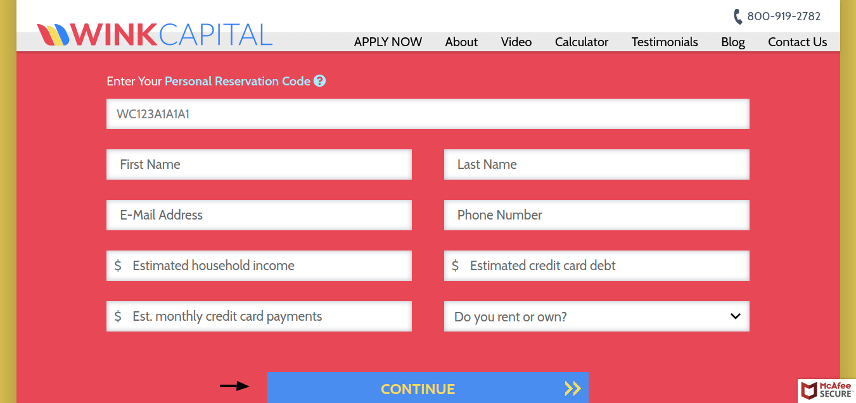Wink Capital Apply