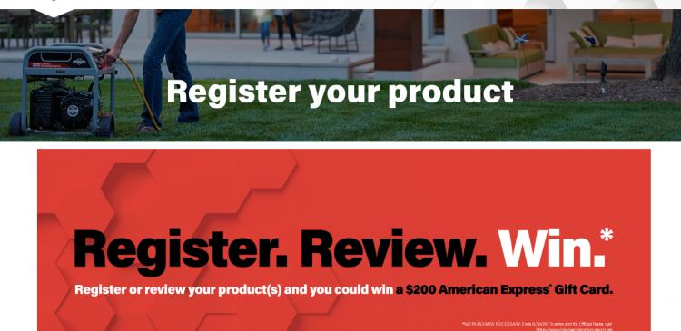 Briggs Stratton Register Product