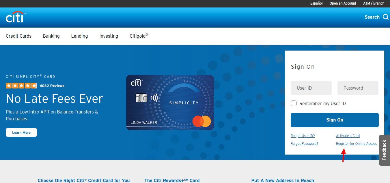 Citi AT T Card Register