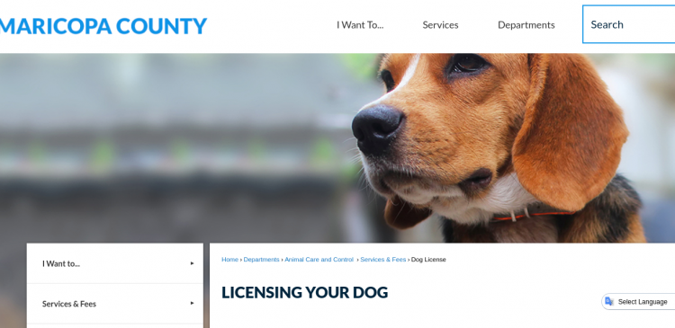 Maricopa County Licensing Your Dog logo