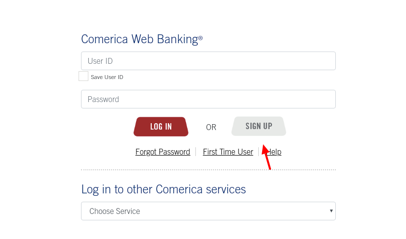Comerica Bank Sign Up