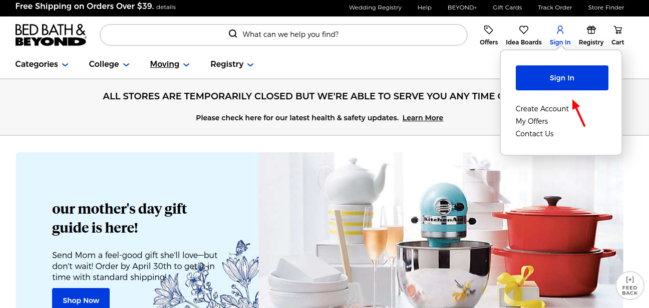 Bed Bath and Beyond Login