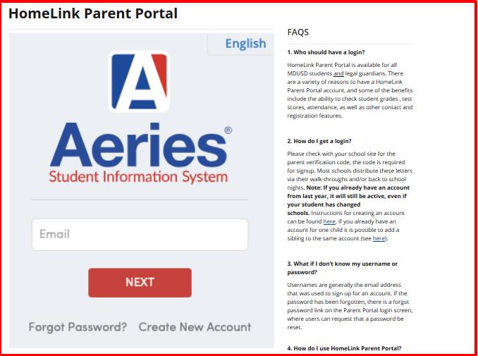HomeLink Parent Portal