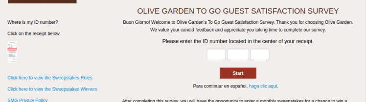 Olive Garden Guest Survey