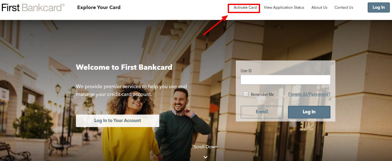 Activate First Bankcard visa credit card