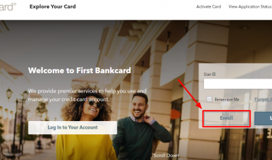 Enroll with First Bankcard online account