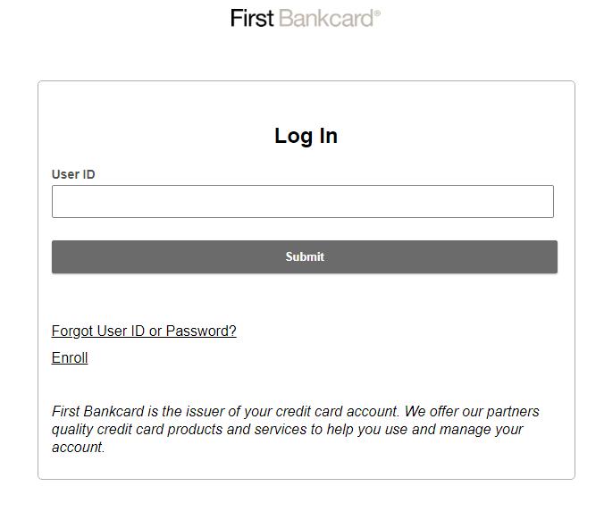 First Bankcard visa credit card login