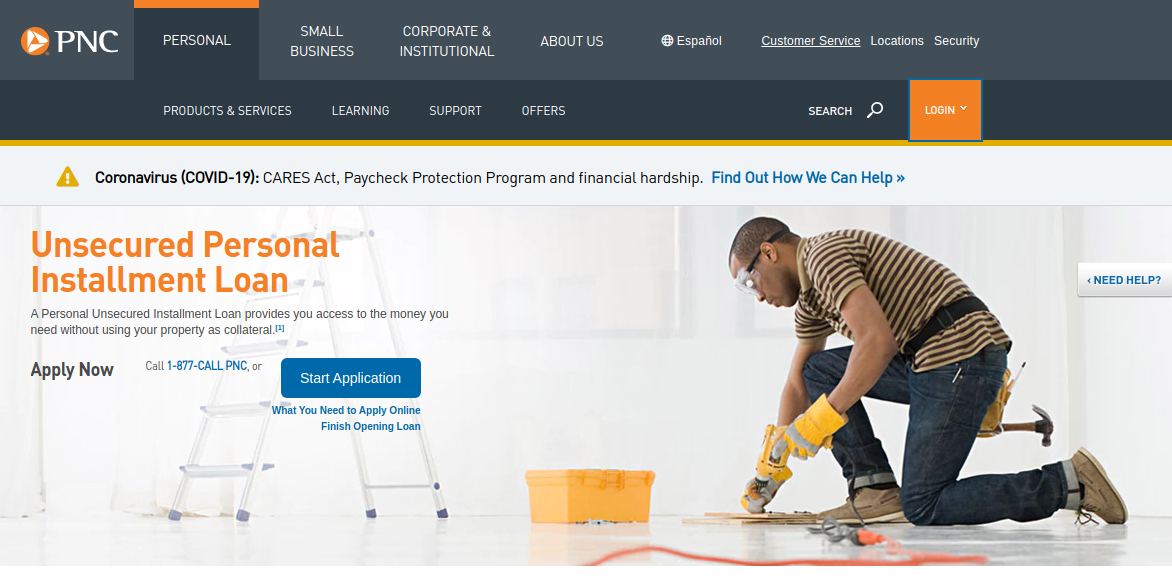 unsecured personal loans pnc bank
