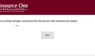 Resource One Credit Union Survey