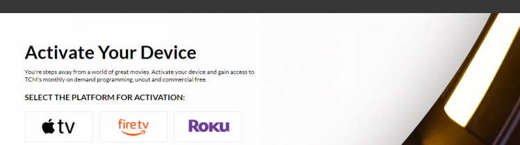 Activate TCM on Roku Device