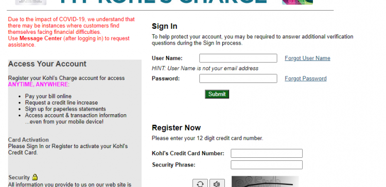 How to Activate Kohl's Charge Card