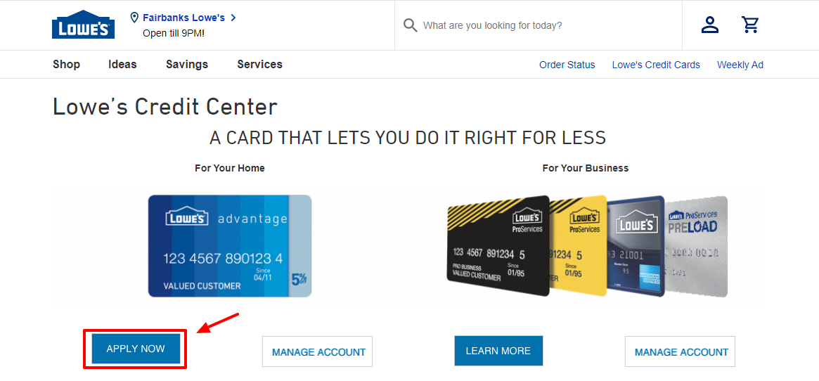 How to Apply for the Lowe's Credit Card