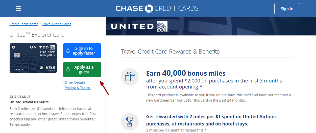 Chase United Credit Card Apply