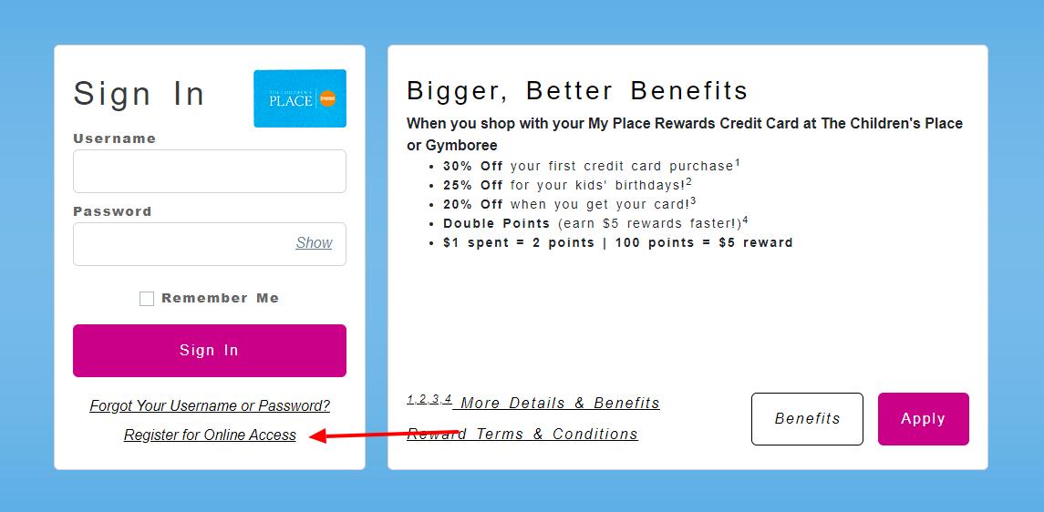Childrens Rewards Credit Card Register