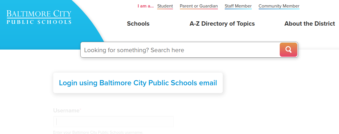 Baltimore City Public School Login
