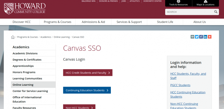 Howard Community College Canvas Login