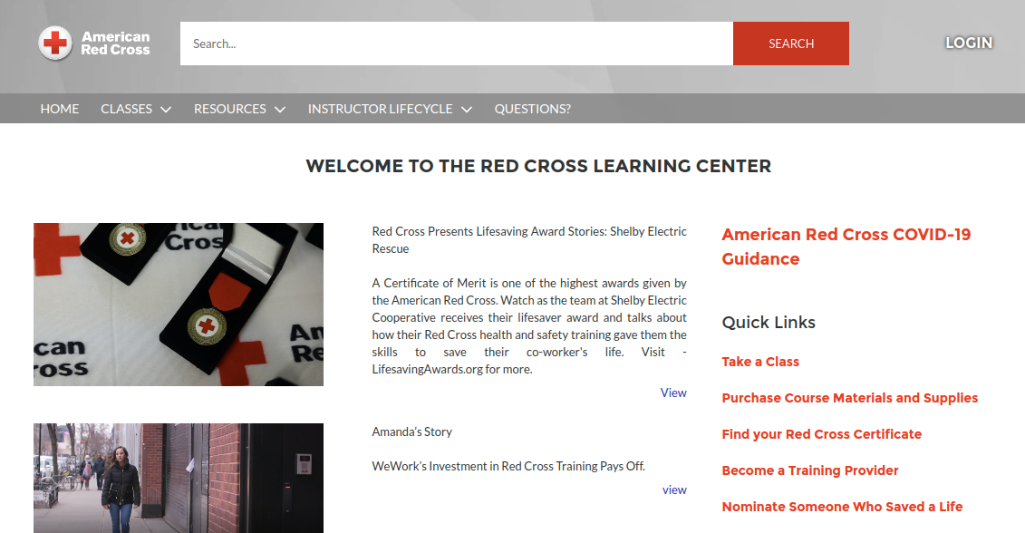 Red Cross Instructor Login