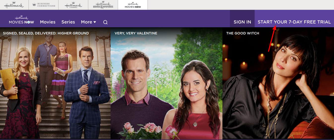 Hallmark Movies Sign Up