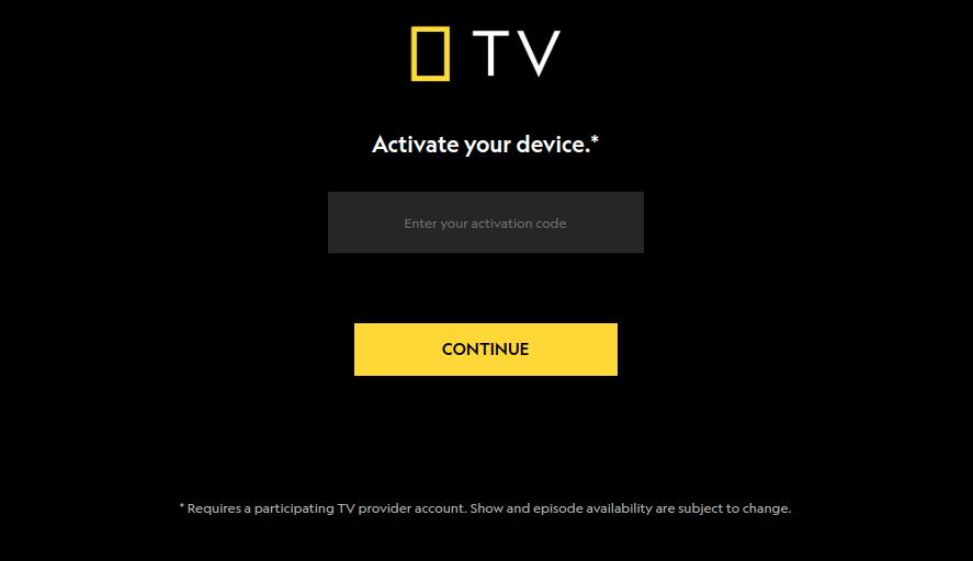 Nat Geo TV Activate