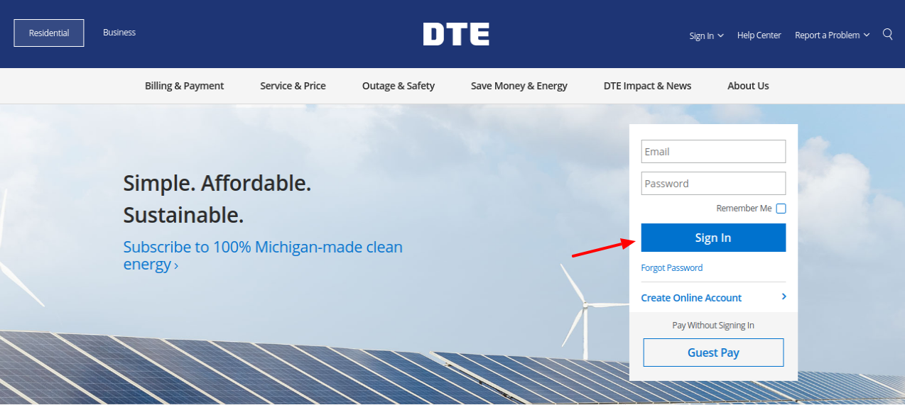 DTE Energy Login