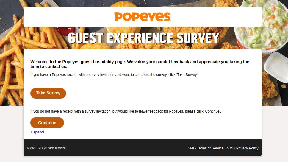 Popeyes USA Survey