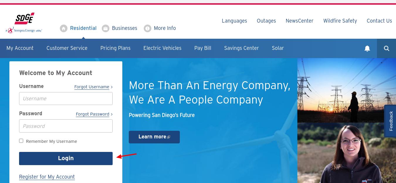 San Diego Gas Electric Login