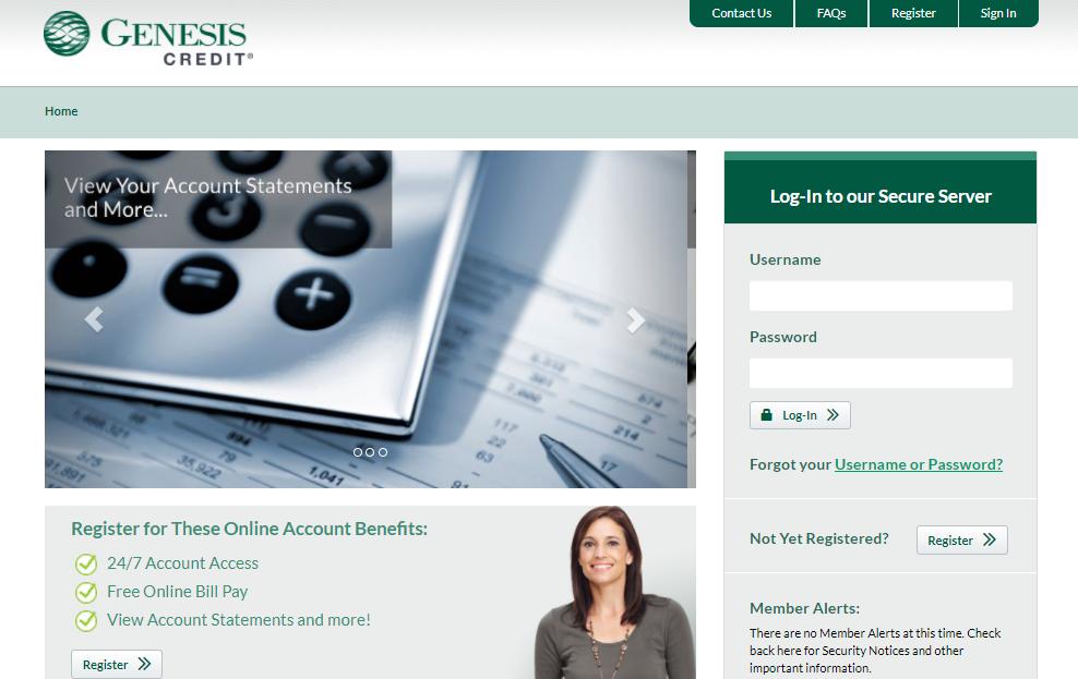 Genesis Credit Card Register