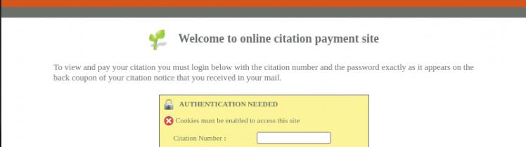 online citation payment